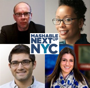 Headshots of the panelists from Mashable's NextUp NYC