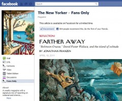 Screenshot of the New Yorker's Facebook page