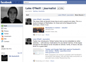 Screenshot of Luke O'Neill's Facebook page